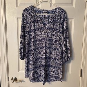 Mud Pie Tunic Swim Cover Up Med EUC